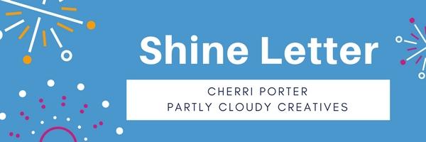 logo for shine letter